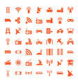 49 station icons vector image vector image