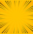 abstract sun yellow color in radiance rays vector image vector image