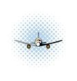 Airplane comics icon vector image vector image