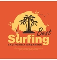 best surfing in California vector image