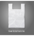 Blank white plastic bag with place for your design vector image vector image