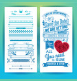 blue getting married love stationery with heart vector image vector image