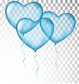 blue heart balloons transparent vector image