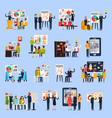 business coaching orthogonal people vector image vector image