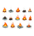 campfire wood set a tourist bonfire in form vector image vector image