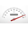car speedometer dashboard speed metre panel vector image