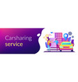 carsharing service concept banner header vector image vector image