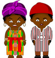 cheerful african couple from ghana vector image vector image