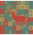 Christmas reindeer pattern background vector image