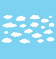 collection cloud icons white clouds isolated on vector image