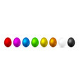 color easter egg on white background design vector image vector image