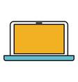 color sections silhouette of laptop computer in vector image vector image