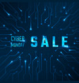 cyber monday sale technology banner vector image vector image