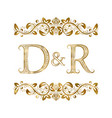 d and r vintage initials logo symbol the letters vector image vector image
