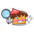 detective sponge cake character cartoon vector image vector image
