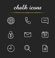 digital chalk icons set vector image