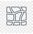 distort concept linear icon isolated on vector image