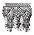 drontheim frieze in architecture vintage engraving vector image vector image