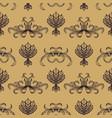engraving vintage seamless pattern vector image vector image