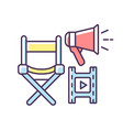 film director rgb color icon vector image