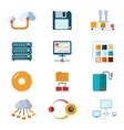 Flat data icons vector image
