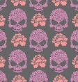Flower skull seamless pttern Skull of pink flowers vector image vector image
