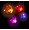 Four Disco Balls With Hearts vector image vector image