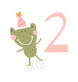 frog birthday vector image vector image