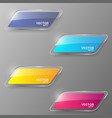 Glass banner set vector image vector image