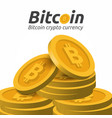 golden bitcoin sign on white background vector image