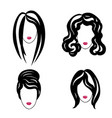 hair style set woman profile pretty girl face vector image vector image