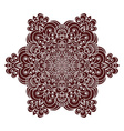 Hand drawing zentangle mandala element in marsala vector image vector image