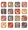 icons of kitchen ware vector image vector image