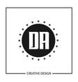 initial letter da logo template design vector image vector image