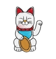 Isolated china cat design vector image vector image