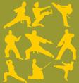 Karate Action Digital Clipart 2 vector image vector image