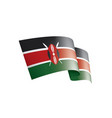 kenya flag on a white vector image