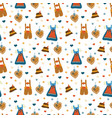 lederhosen and dirndl dress oktoberfest pattern vector image vector image