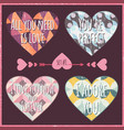 lettering valentines day in hearts 2 vector image vector image