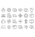 logistics and shipping icons truck delivery vector image vector image