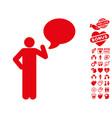 man idea balloon icon with lovely bonus vector image
