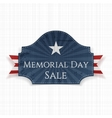 Memorial Day Sale patriotic Poster and Ribbon vector image