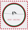 Merry Christmas greeting card2 vector image