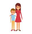 mom embracing her boy son happy vector image vector image