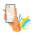 navigation application flat vector image