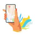 navigation application flat vector image vector image