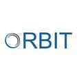 orbit abstract logo vector image