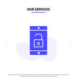 our services application mobile mobile vector image vector image