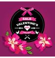 Poster Valentines SaleTypography vector image vector image