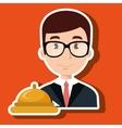 receptionist employee man hotel vector image